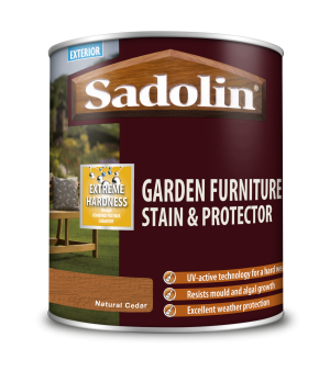 Sadolin Garden Furniture Stain & Protector Natural Cedar 1L