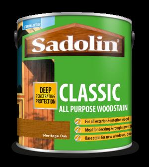 Sadolin Classic All Purpose Woodstain Heritage Oak 2.5L  5090980