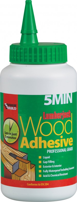 SikaEverbuild Lumberjack 5 Min PU Wood Glue 750gm Red [EVB5MINPU7]