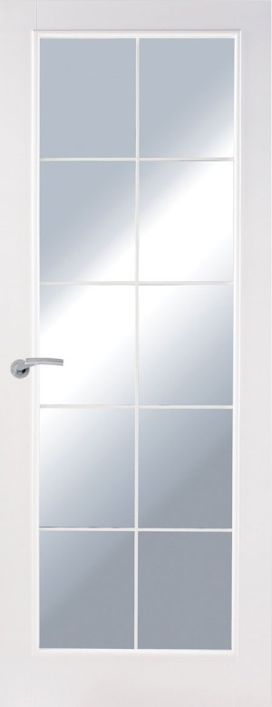 Premdor 1 Panel Chrome Leaded Glazed Internal Door