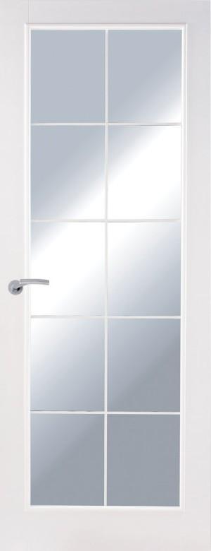 Premdor 1 Panel Chrome Leaded Glazed Internal Door