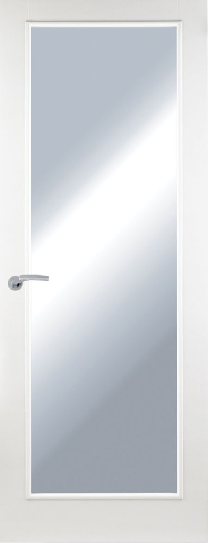 Premdor 1 Panel Internal Door - with Clear Glass