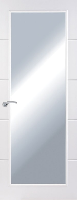 Premdor Horizontal 4 Line Internal Door - with Clear Glass