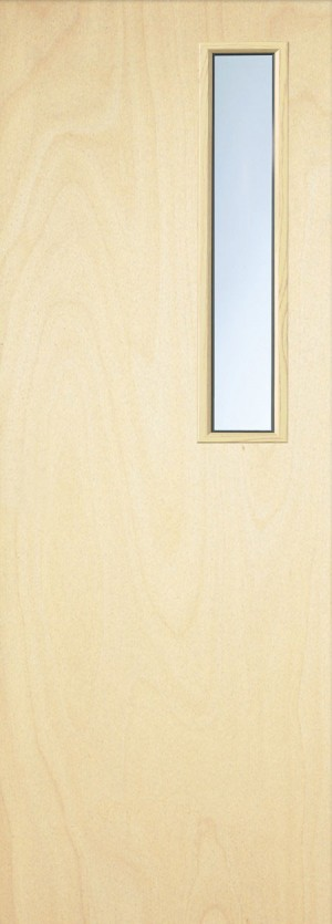 Premdor Popular Paint Grade  3G Internal Fire Door - With Clear Glass