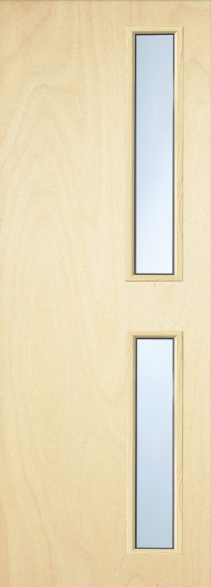 Premdor Popular Paint Grade 16G Internal Fire Door - With Clear Glass