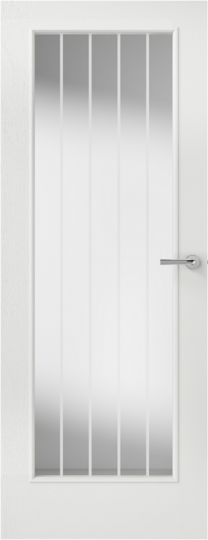 Premdor Vertical 5 Panel 1 Light Internal Door - with Clear Etched Glass
