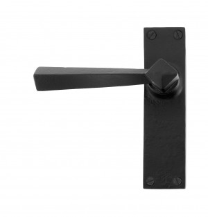 ANVIL - Black Straight Lever Latch Set  Anvil73110
