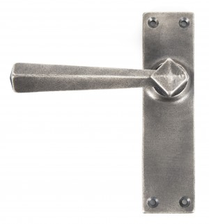 ANVIL - Antique Pewter Straight Lever Latch Set