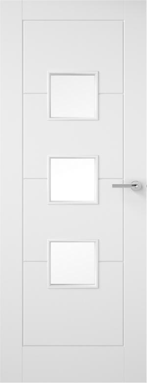 Premdor Ladder 3 Light Internal Door - with Clear Glass