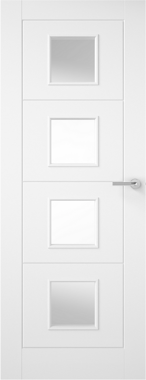 Premdor Ladder 4 Light Internal Door - with Clear Glass