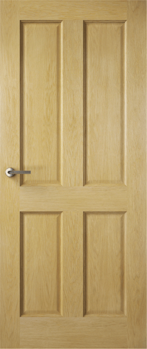 Premdor Traditional 4 Panel Internal Fire Door - with Clear Glass