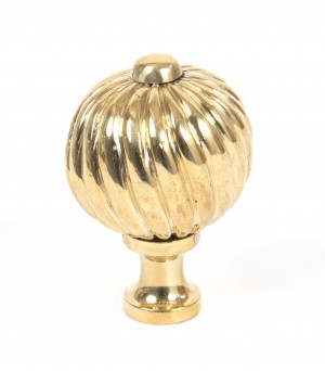 ANVIL - Polished Brass Spiral Cabinet Knob - Medium