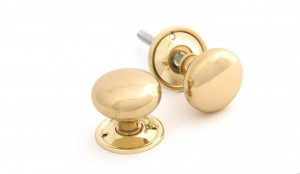 ANVIL - Polished Brass Mushroom Knob Set  Anvil83564