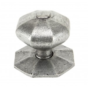 ANVIL - Pewter Octagonal Centre Door Knob  Anvil83778