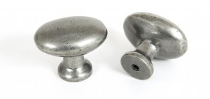 ANVIL - Oval Cabinet Knob - Pewter  Anvil83787