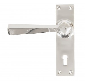 ANVIL - Polished Chrome Straight Lever Lock Set  Anvil83830