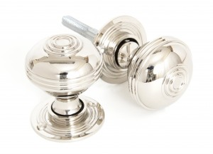 ANVIL - Polished Nickel Prestbury Mortice/Rim Knob Set - 50mm
