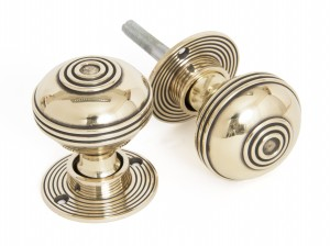 ANVIL - Aged Brass Prestbury Mortice/Rim Knob Set - 50mm  Anvil83857