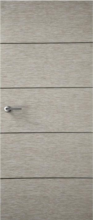 Premdor Portfolio - Light Grey 4 Line Horizontal Internal FD60 Fire Door