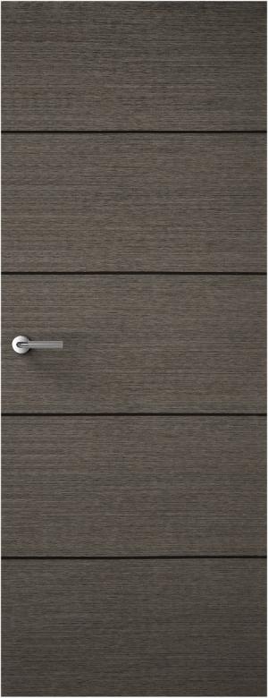 Premdor - Portfolio Charcoal Grey 4 Line Horizontal Internal Door