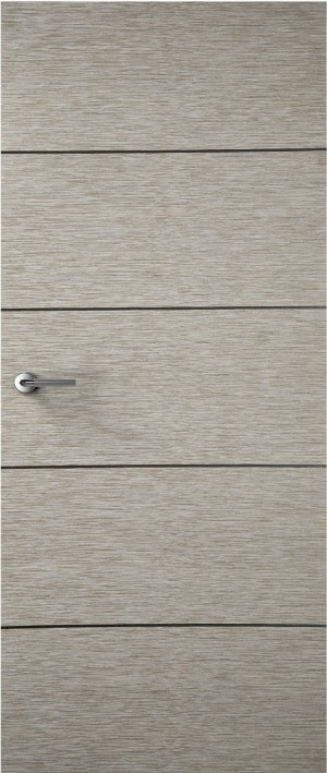 Premdor Portfolio - Light Grey 4 Line Horizontal Internal Door
