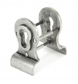 ANVIL - Pewter Euro Door Pull - Back-to-back Fixing