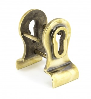ANVIL - Aged Brass 50mm Euro Door Pull (Back to Back fixings)
