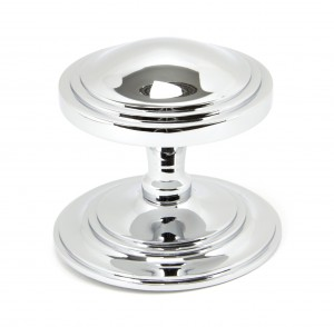 ANVIL - Polished Chrome Art Deco Centre Door Knob  Anvil90073