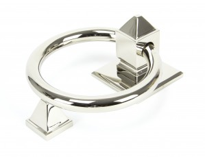 ANVIL - Polished Nickel Ring Door Knocker  Anvil90286