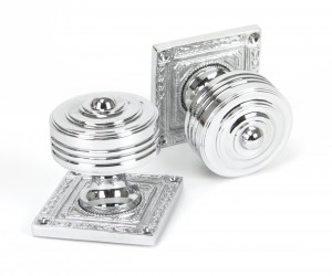 ANVIL - Polished Chrome Tewkesbury Square Mortice Knob Set  Anvil90292