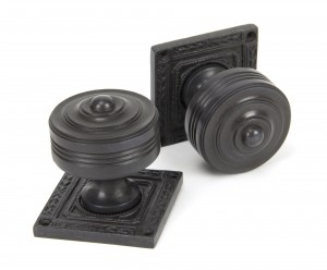 ANVIL - Aged Bronze Tewkesbury Square Mortice Knob Set  Anvil90293