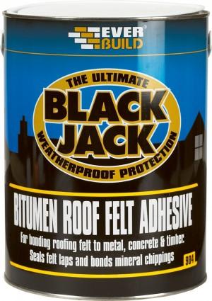 SikaEverbuild Black Jack 904 Roof Felt Adhesive Black