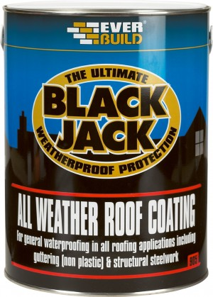 SikaEverbuild Black Jack 905 All Weather Roof Coating Black