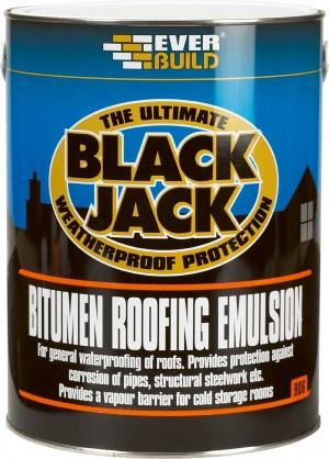 SikaEverbuild 906 Bitumen Roof Emulsion 5L Black [SIK90605]