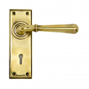 ANVIL - Aged Brass Newbury Lever Lock Set