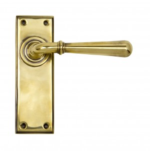 ANVIL - Aged Brass Newbury Lever Latch Set