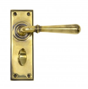 ANVIL - Aged Brass Newbury Lever Bathroom Set