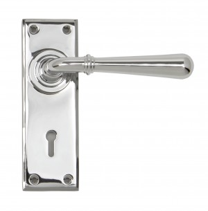 ANVIL - Polished Chrome Newbury Lever Lock Set