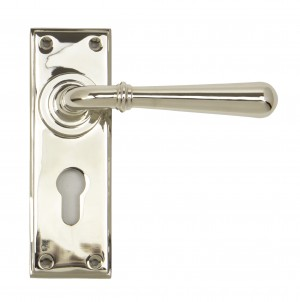 ANVIL - Polished Nickel Newbury Lever Euro Set  Anvil91431