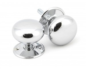 ANVIL - Polished Chrome 57mm Mushroom Mortice/Rim Knob Set  Anvil91532