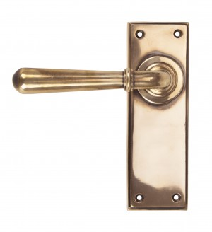 ANVIL - Polished Bronze Newbury Lever Latch Set