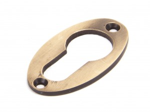 ANVIL - Polished Bronze Oval Euro Escutcheon