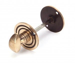 ANVIL - Polished Bronze Round Bathroom Thumbturn  Anvil91930