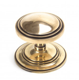 ANVIL - Polished Bronze Art Deco Centre Door Knob  Anvil91946