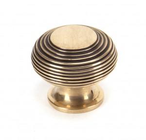 ANVIL - Polished Bronze Beehive Cabinet Knob - Large  Anvil91947