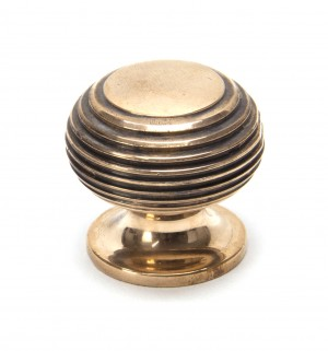 ANVIL - Polished Bronze Beehive Cabinet Knob - Small