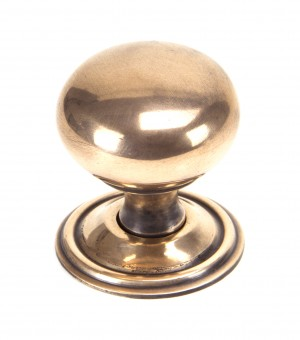 ANVIL - Polished Bronze Mushroom Cabinet Knob - Large