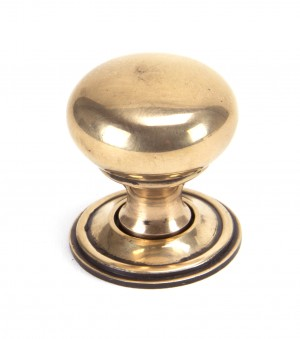 ANVIL - Polished Bronze Mushroom Cabinet Knob - Small