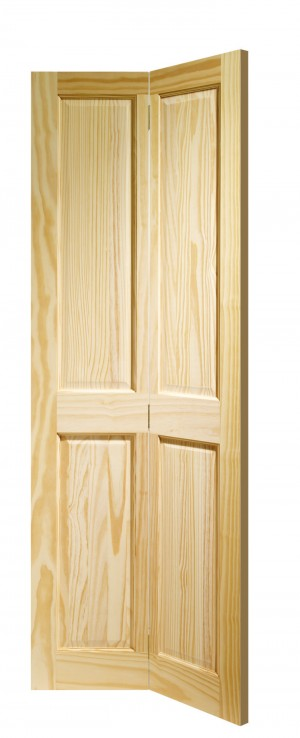 XL JOINERY DOORS -  CPBF4P27  Internal Clear Pine Victorian 4 Panel Bi-fold (27inch)  CPBF4P27