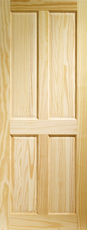 XL JOINERY DOORS -  CPIN4P826M  Internal Clear Pine Victorian 4 Panel  CPIN4P826M